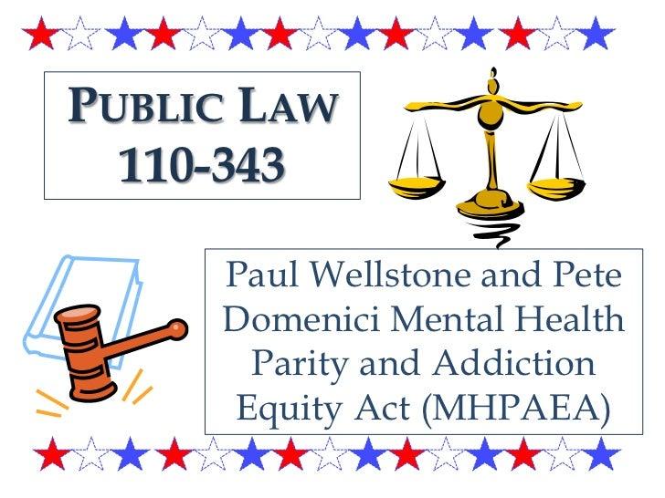 Insurance regulation of mental health and addiction ...