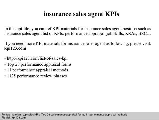 Insurance Sales Agent Kpis