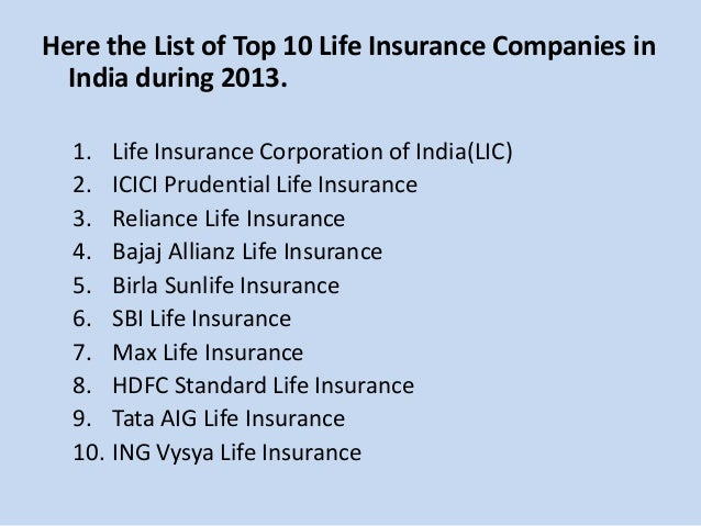 Vehicle Insurance List Of Vehicle Insurance Companies In India