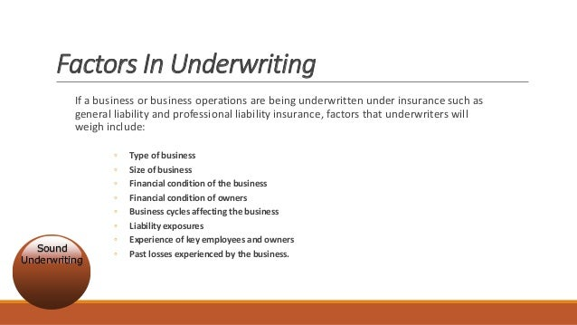Insurance Underwriters