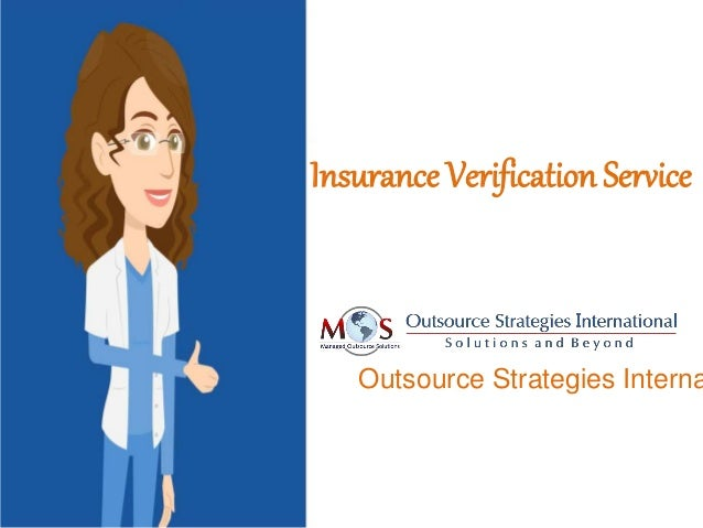 Insurance Verification Service Outsource Strategies Interna