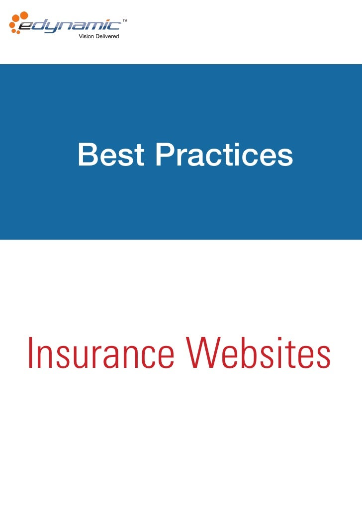 Best PracticesInsurance Websites