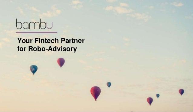 Your Fintech Partner for Robo-Advisory