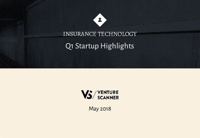 May 2018 Q1 Startup Highlights INSURANCE TECHNOLOGY