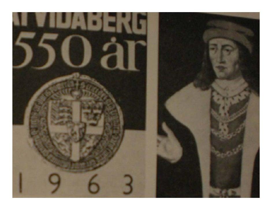 Lördagen den 14 september 1963 fyllde          Åtvidaberg 550 år.