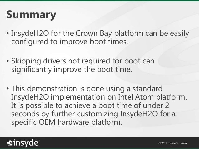 Fast Boot Times with InsydeH2O