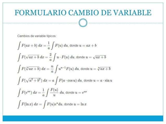 FORMULARIO CAMBIO DE VARIABLE