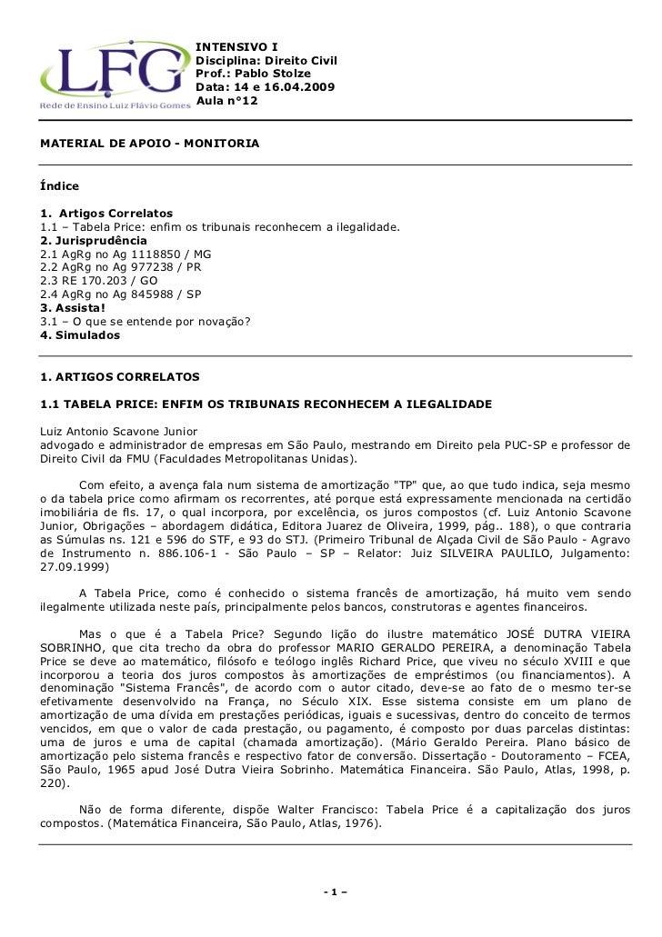INTENSIVO I                           Disciplina: Direito Civil                           Prof.: Pablo Stolze             ...