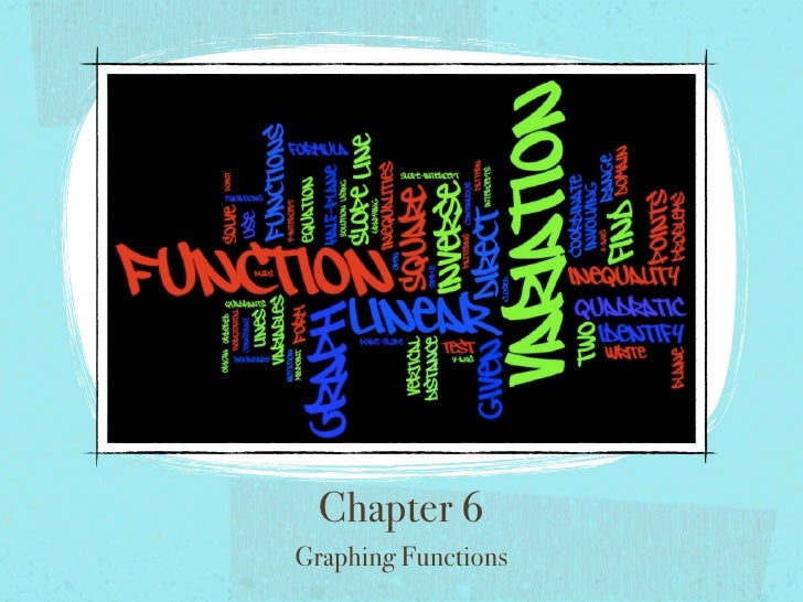 Chapter 6 Graphing Functions
