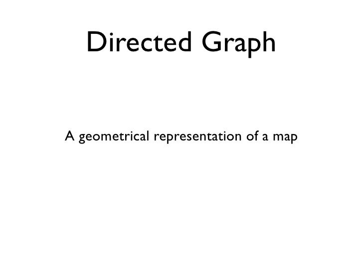 Directed Graph   A geometrical representation of a map