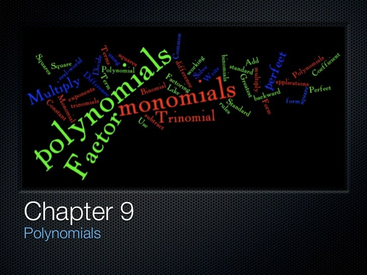 Chapter 9Polynomials
