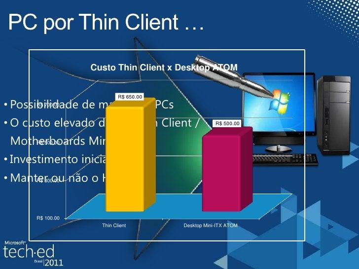 PC por Thin Client …<br /><ul><li>Possibilidade de manter os PCs