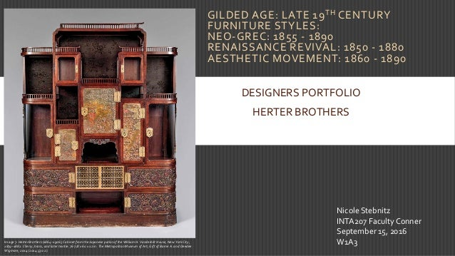 10. GILDED AGE: LATE 19TH CENTURY FURNITURE STYLES: ...
