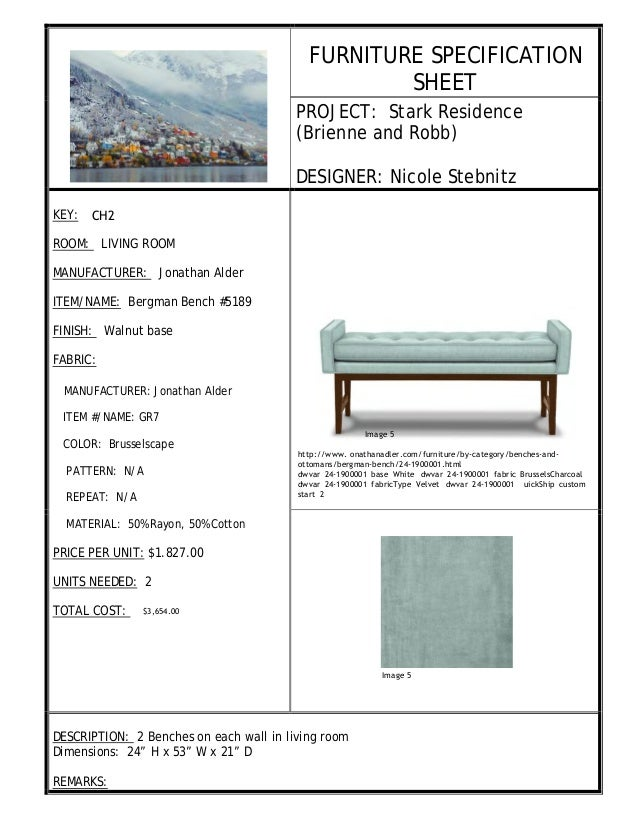 Interior Design Specification Fascinating Interior Design Spec Sheet Review