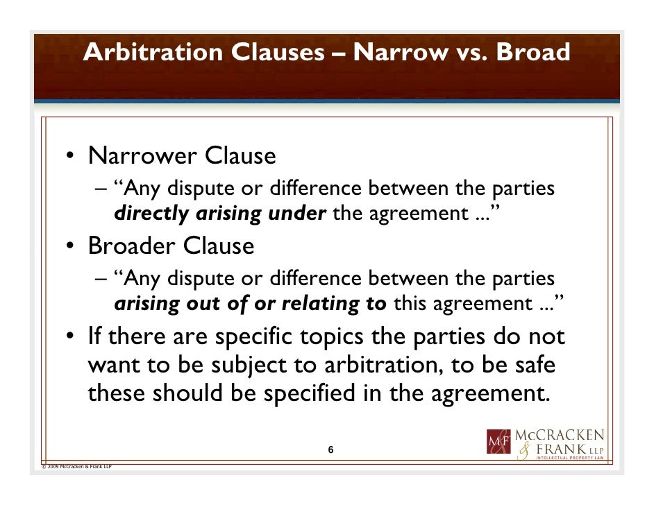 ADR Clauses
