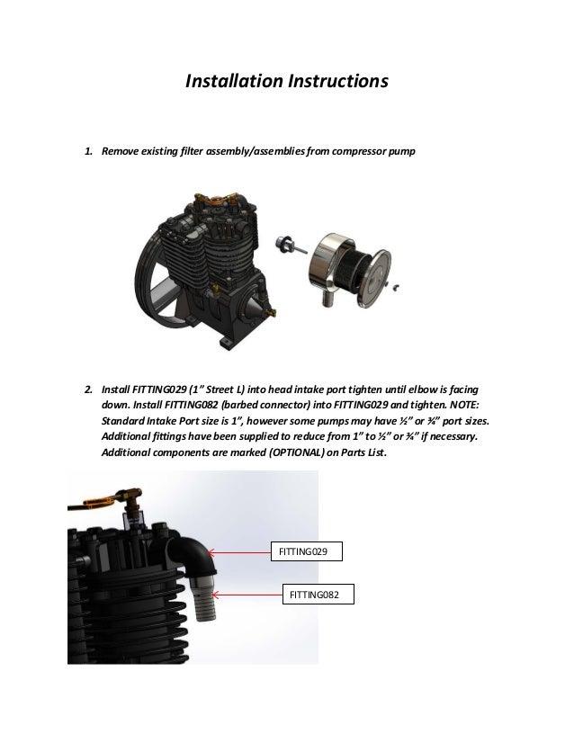 Intake Noise Suppressor Installation Manual by Eaton Compressor