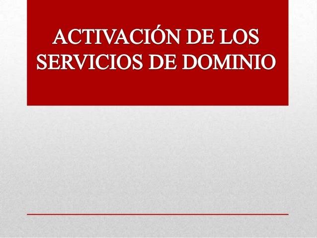 PARA ACTIVAR LOS SERVICIOS DE DOMINIO DAMOS CLIC EN INICIO Y LUEGO EN LA OPCIÓN EJECUTAR .  REALIZADO POR: OSVALDO ROJO AV...