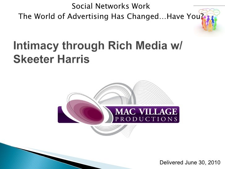 Social Networks Work The World of Advertising Has Changed…Have You? Delivered June 30, 2010