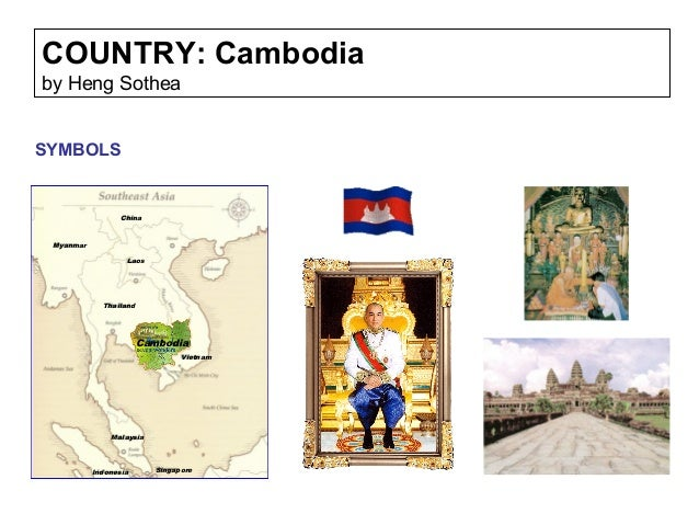 COUNTRY: Cambodia by Heng Sothea SYMBOLS Cambodia Thailand Vietnam Laos Myanmar China Malaysia Indonesia Singapore
