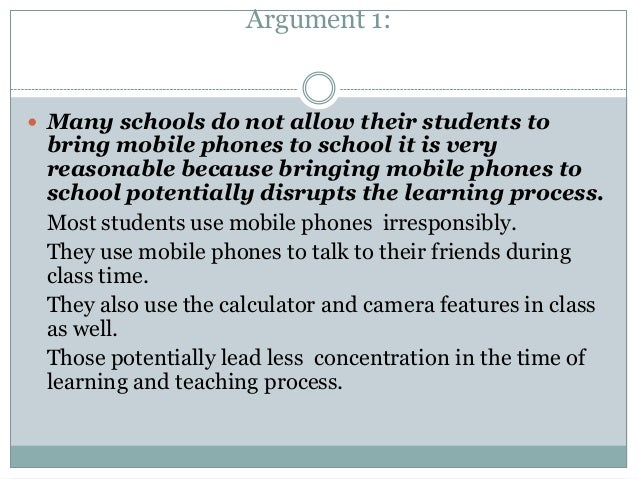 Should the Cell Phones Be Allowed in Schools