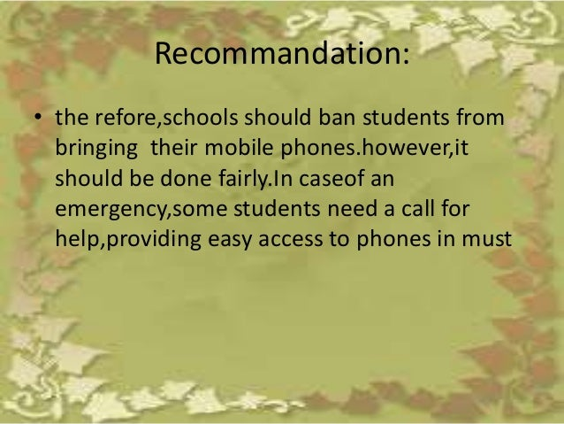 Essay student should be allowed to bring handphone to school