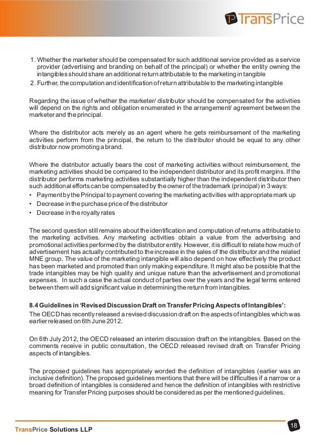 Transfer pricing intagibles transprice solutions llp 19 platinumwayz