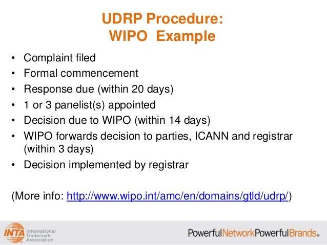 uniform domain name dispute resolution policy essay