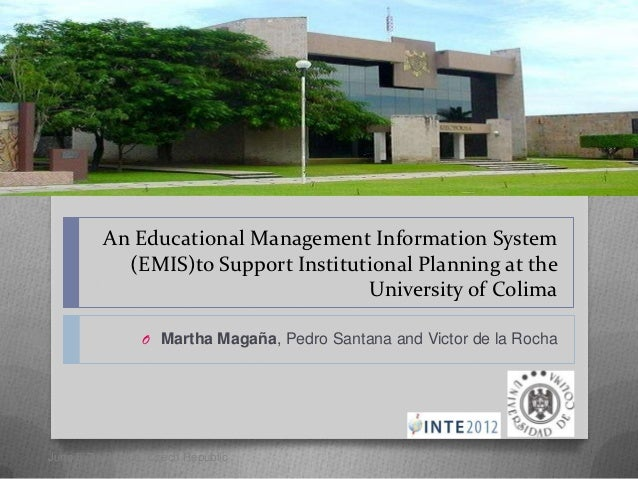 An Educational Management Information System            (EMIS)to Support Institutional Planning at the                    ...