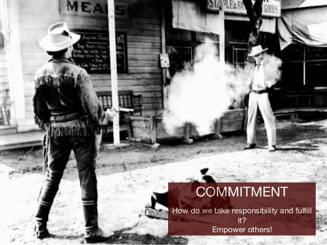 COMMITMENT  How do we take responsibility and fulfill it?  Empower others!