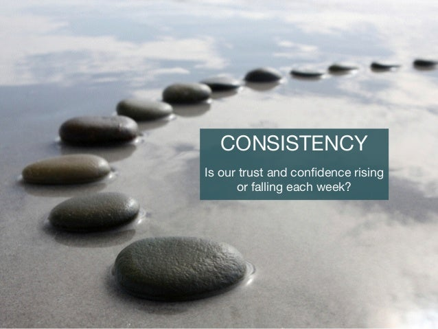CONSISTENCY  Is our trust and confidence rising or falling each week?