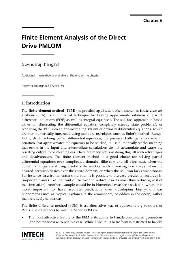 Chapter 6Finite Element Analysis of the DirectDrive PMLOMGovindaraj ThangavelAdditional information is available at the en...