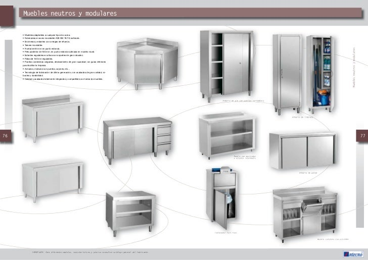 Catalogo muebles auxiliares intecno hosteurgroup for Muebles auxiliares para cocinas pequenas