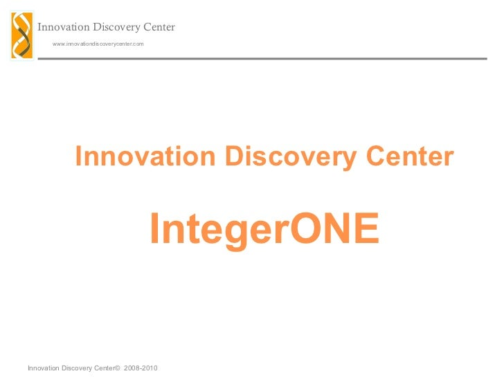 Innovation Discovery Center IntegerONE