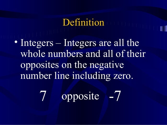 Integer Powerpoint