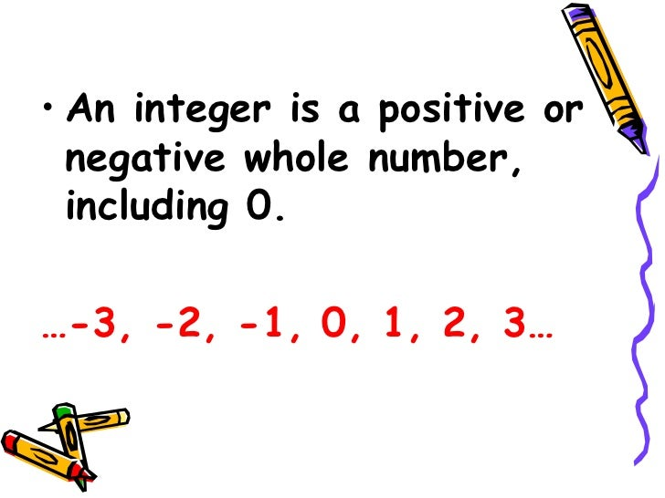 Are negative numbers integers yahoo dating 10
