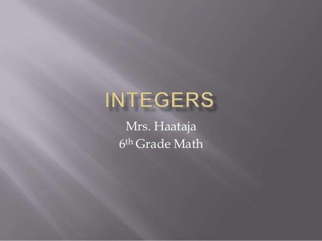 Mrs. Haataja 6th Grade Math