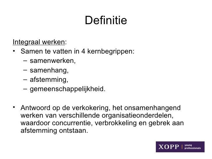 Citaten Samenwerken Definitie : Integraal werken sociale domein