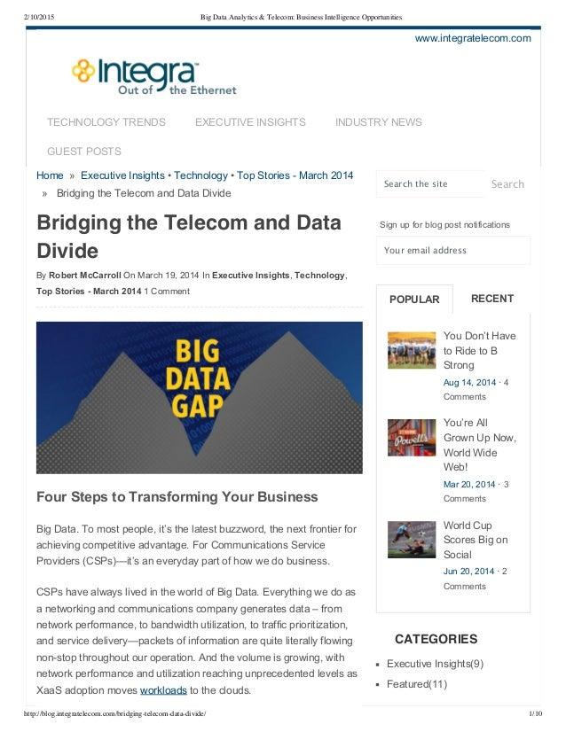 2/10/2015 Big Data Analytics & Telecom: Business Intelligence Opportunities http://blog.integratelecom.com/bridging-teleco...