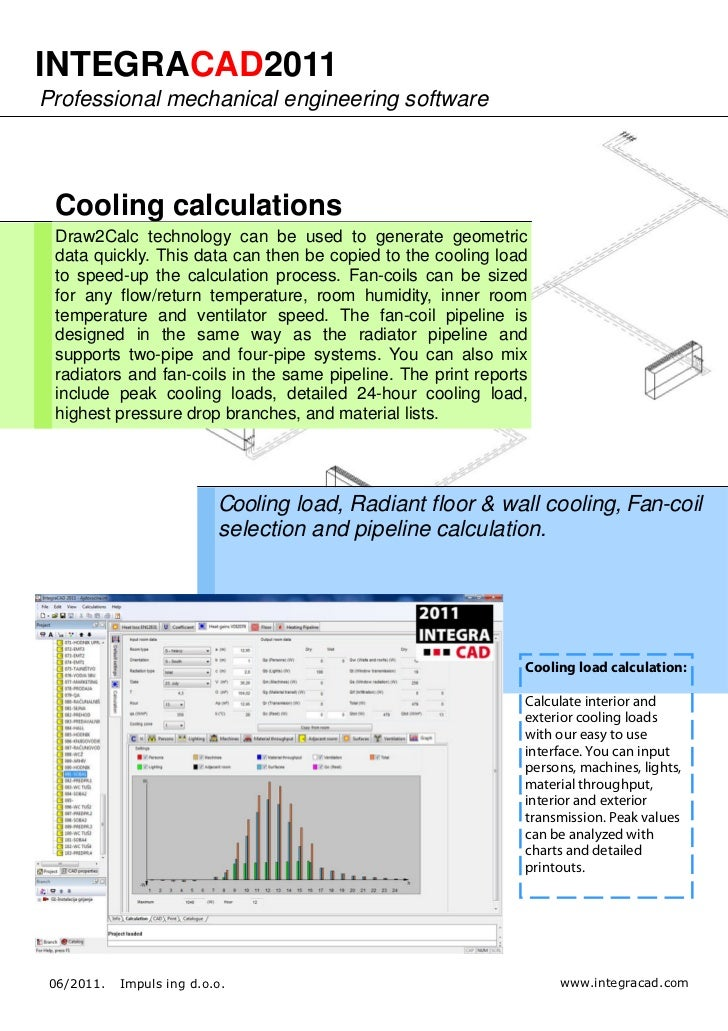 IntegraCAD 2011 - HVAC calculation and drawing software