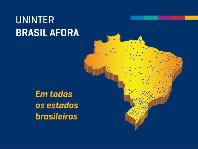 UNINTER BRASIL AFORA Em todos os estados brasileiros