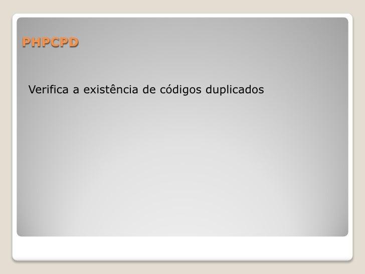 PHPCPDVerifica a existência de códigos duplicados