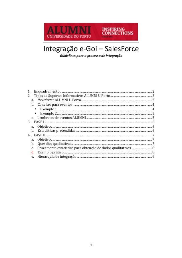1      Integração  e-‐Goi  –  SalesForce   Guidelines  para  o  processo  de  integração     ...