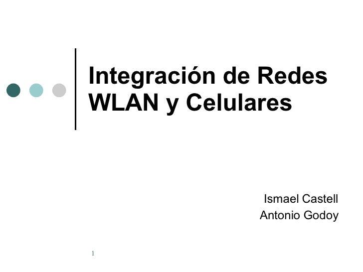 Integración de Redes WLAN y Celulares Ismael Castell Antonio Godoy