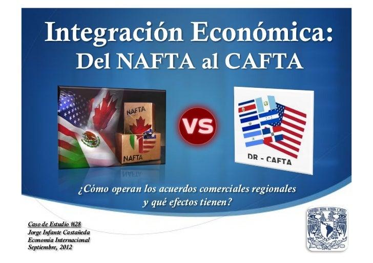 Integración Económica:                 Del NAFTA al CAFTA                  ¿Cómo operan los acuerdos comerciales regionale...