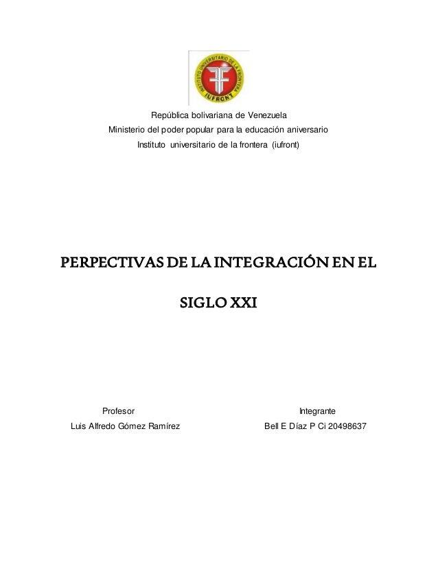 República bolivariana de Venezuela Ministerio del poder popular para la educación aniversario Instituto universitario de l...