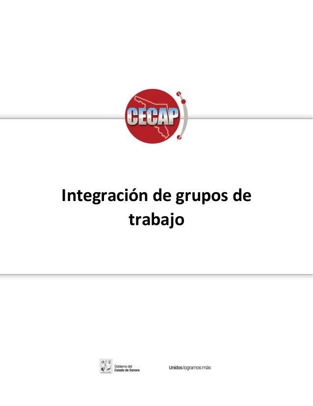 Manual del participante del taller Integracion de grupos