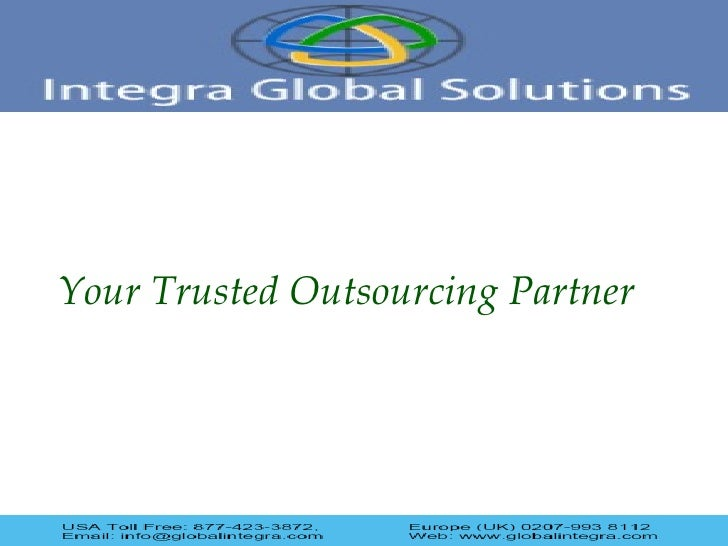 Your Trusted Outsourcing Partner