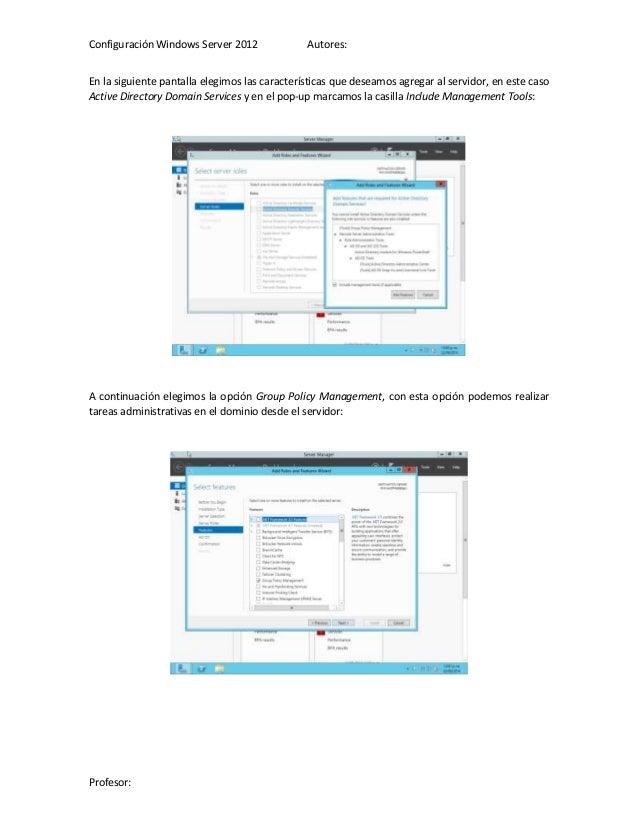 Instalación Windows Server 2012 - Instalación y configuración de acti…