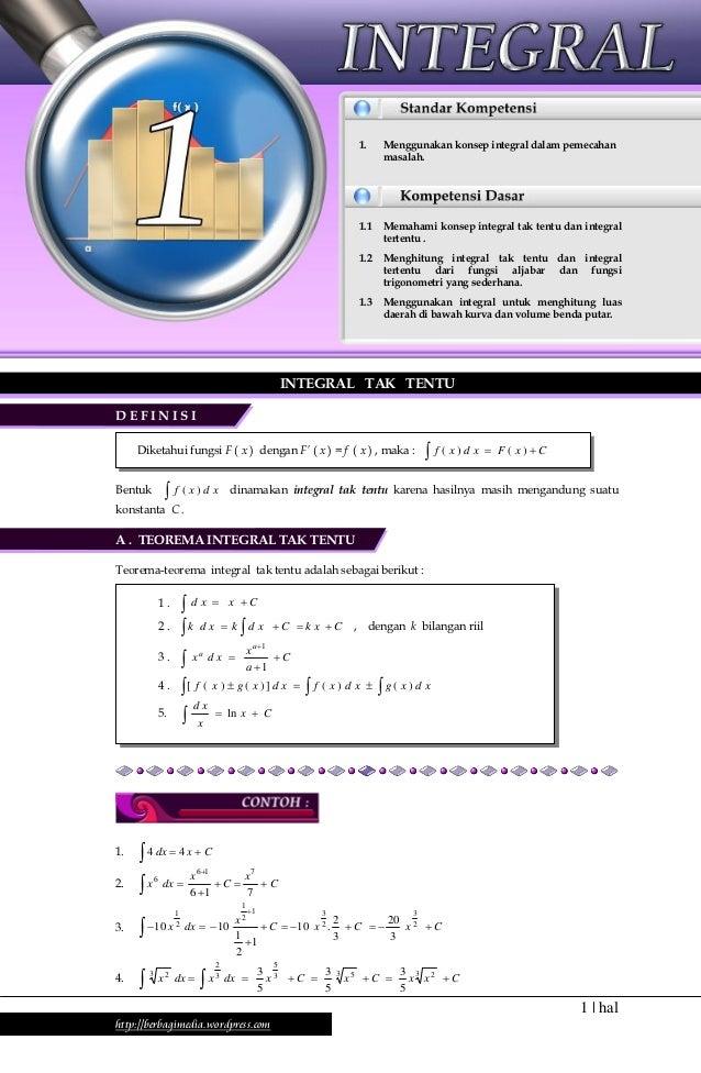 Ringkasan Materi dan Soal-soal Matematika Kelas XII IPA Semester 1                                                        ...
