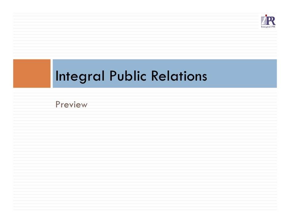 Integral Public RelationsPreview
